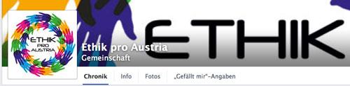 Ethik pro Austria auf Facebook